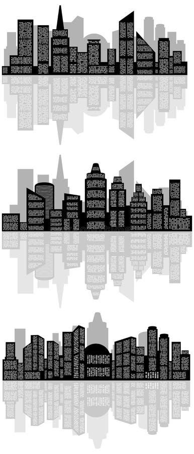 Abstract stadssilhouet royalty-vrije illustratie