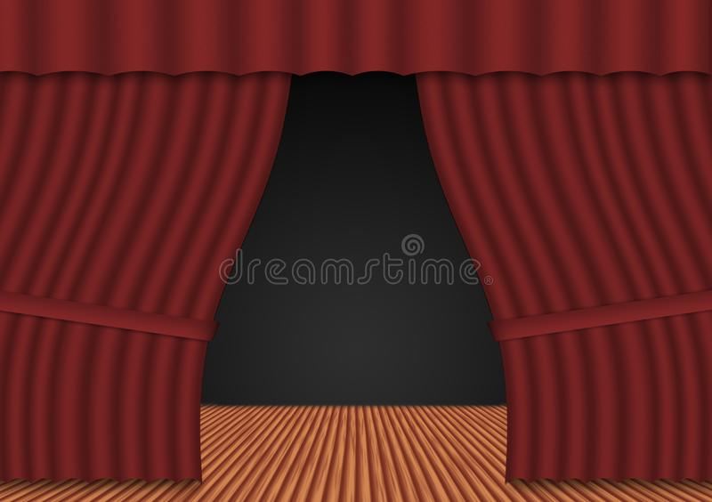 Abstract stage stock image