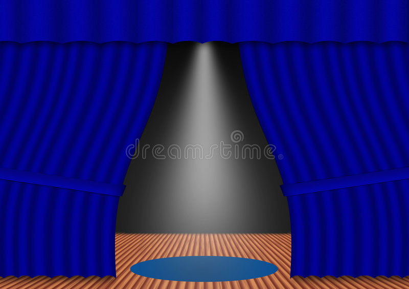 Abstract stage vector illustration