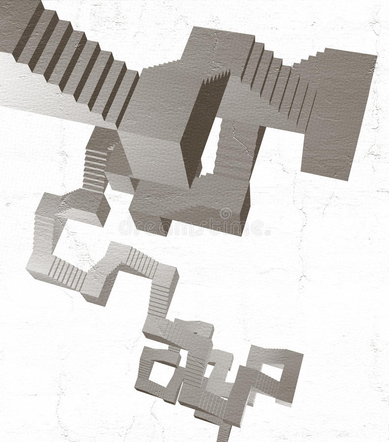 Download Abstract Stairs Stock Illustration - Image: 83720642