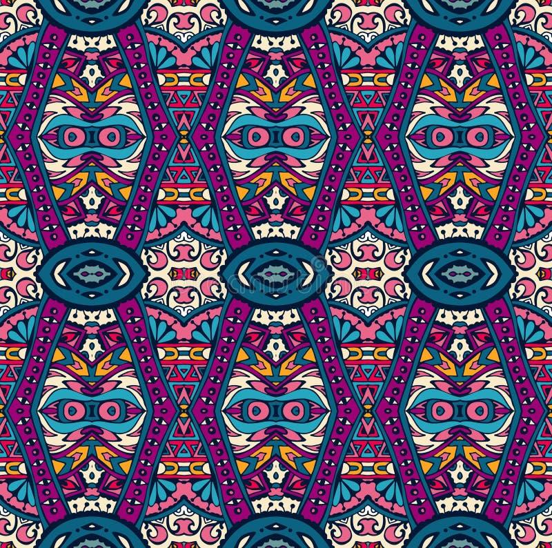 Abstract stammen etnisch naadloos patroon als achtergrond vector illustratie