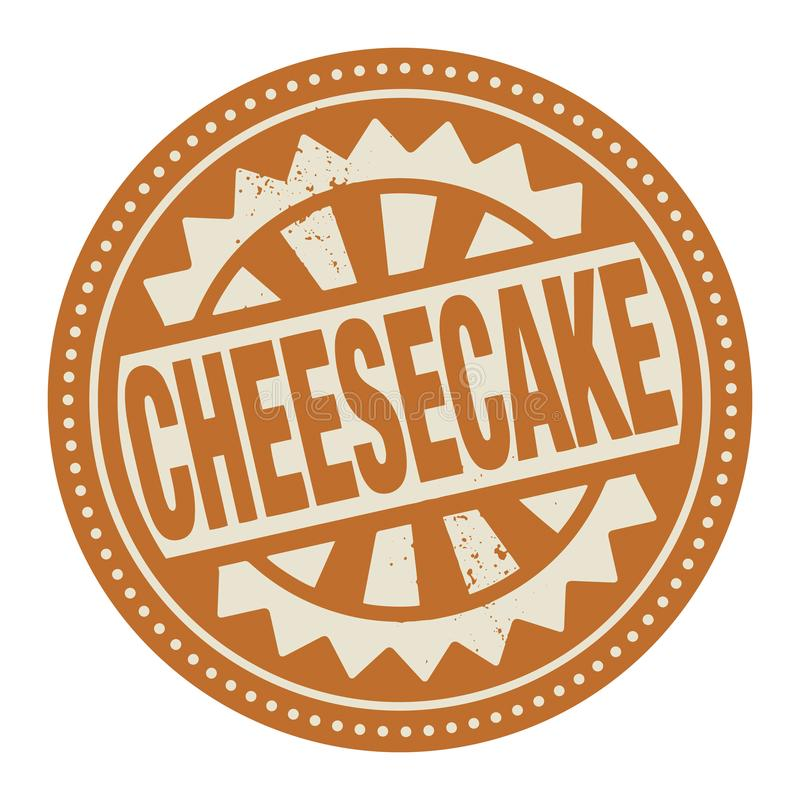 Abstract stamp or label with the text Cheesecake written inside. Vector illustration vector illustration