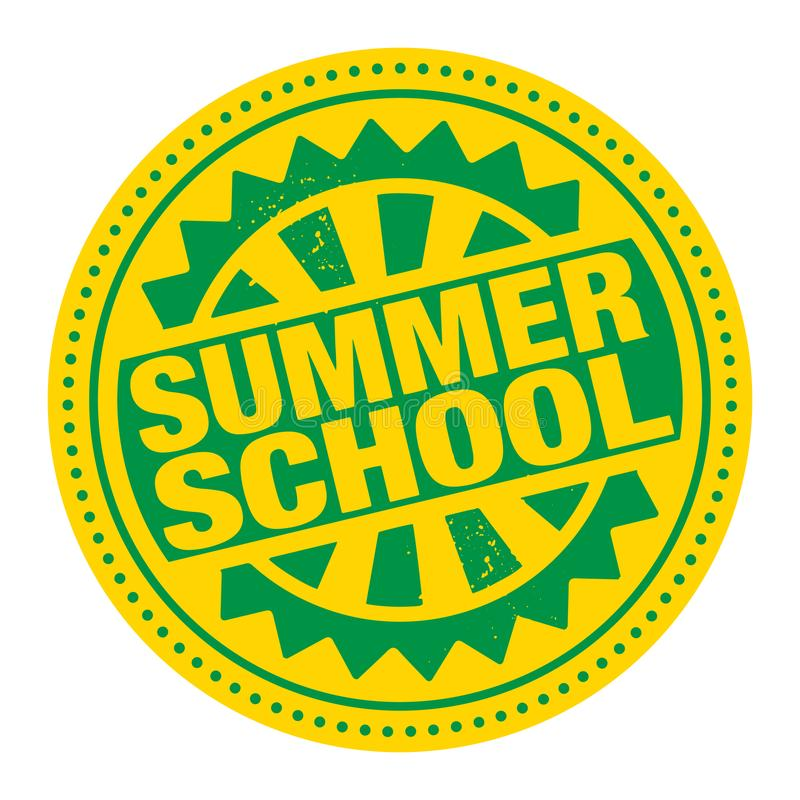 Abstract stamp or label with the text Summer School. Written inside, vector illustration stock illustration