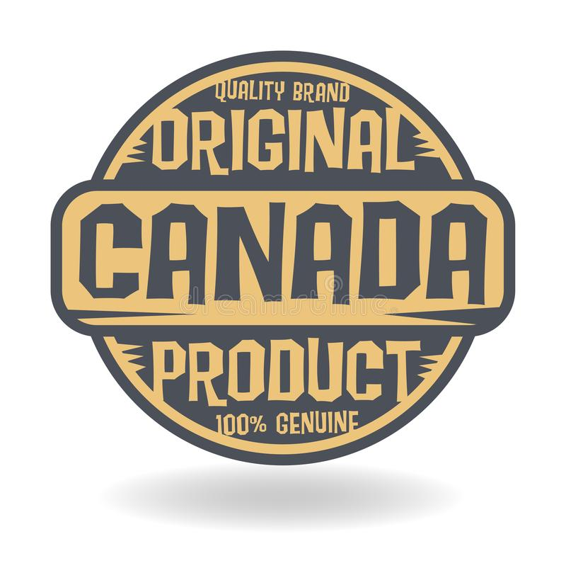 Abstract stamp with text Original Product of Canada royalty free illustration