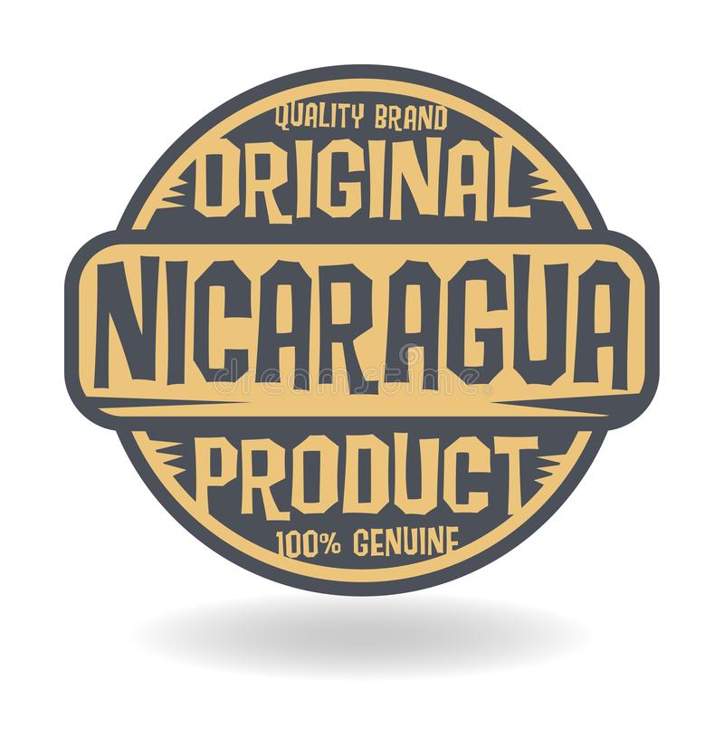 Abstract stamp with text Original Product of Nicaragua vector illustration