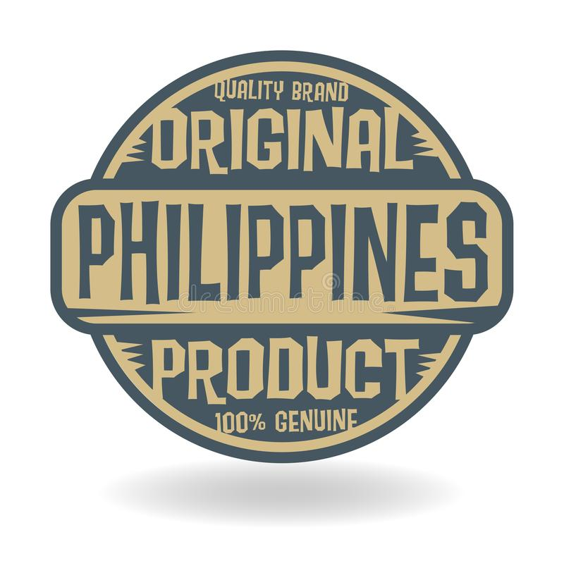 Abstract stamp with text Original Product of Philippines royalty free illustration
