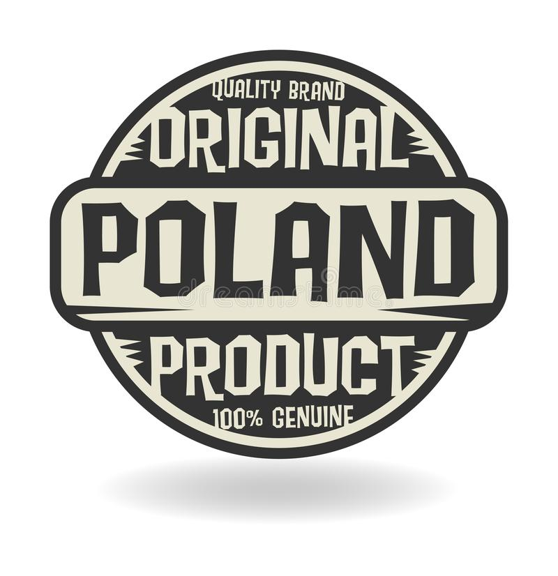 Abstract stamp with text Original Product of Poland. Vector illustration royalty free illustration