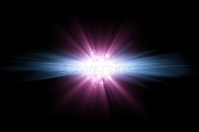 Abstract star. Abstract bright blue pink star on black background royalty free illustration