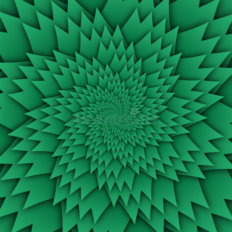 Abstract star mandala decorative pattern green background square image, illusion art image pattern, background photo vector illustration