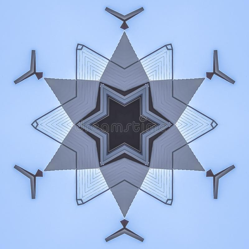 Abstract star shape made from real estate photo stock illustration