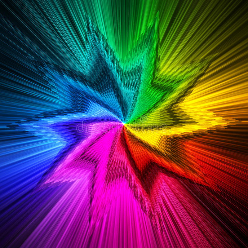 Abstract star shape prism colors background stock image