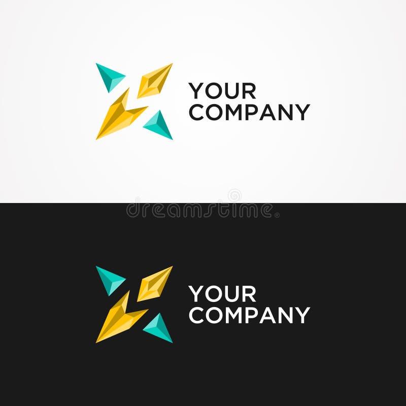Abstract star vector logo concept illustration. Origami vector logo template royalty free illustration