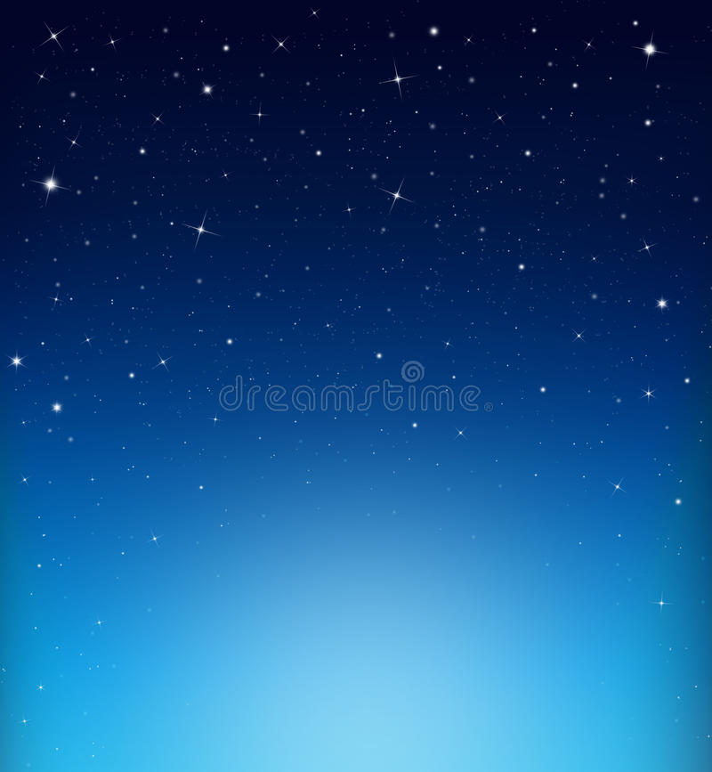 Abstract starry blue background stock image