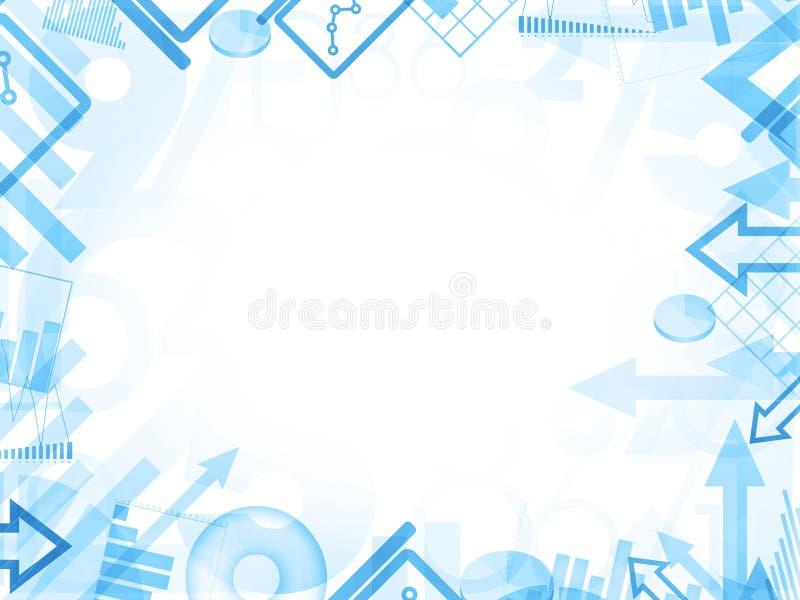 Abstract statistics blue background frame border royalty free illustration