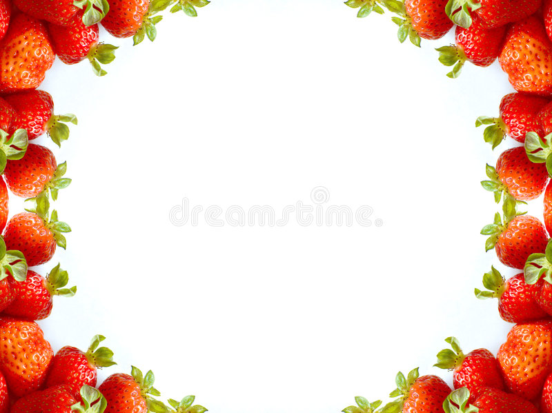 Abstract stawberry frame stock afbeelding