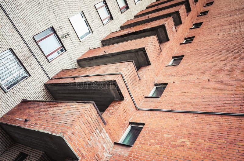 Abstract stedelijk architectuurfragment stock afbeeldingen