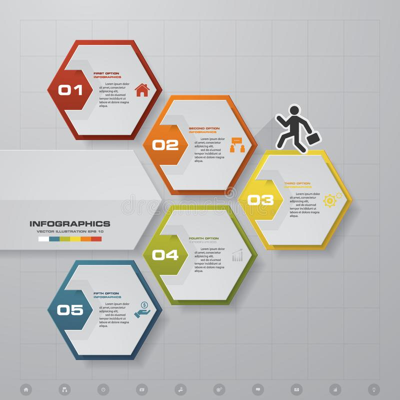 abstract 5 steps infographics template. infographics for business, Presentation templates
