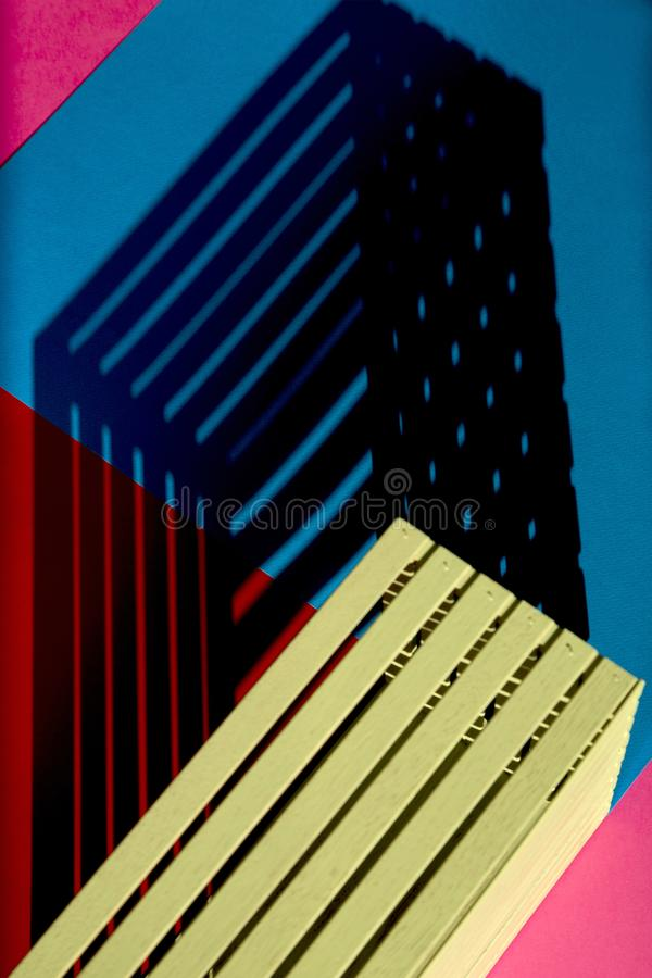 Abstract still life Geometry of the shadow.  royalty free stock image
