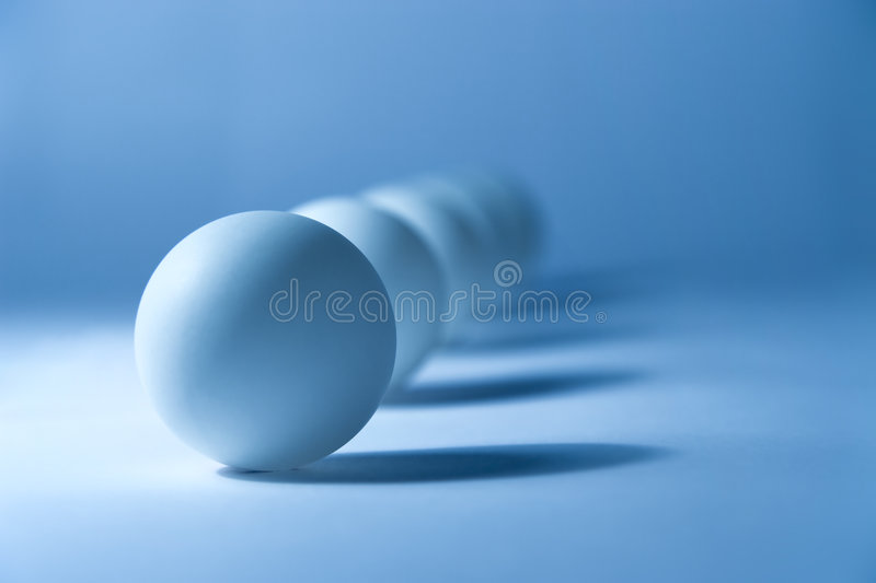 Abstract still life with small balls stock photo
