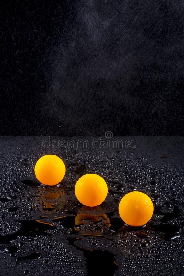 Abstract Still Life With Three Orange Balls Stock Photo ...