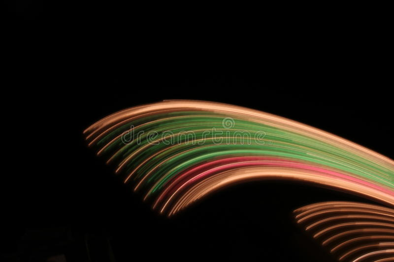 Abstract streaming colors of lights
