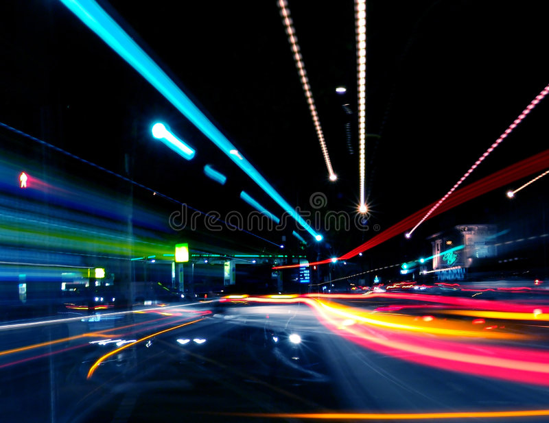 Abstract Street. Scene at Night