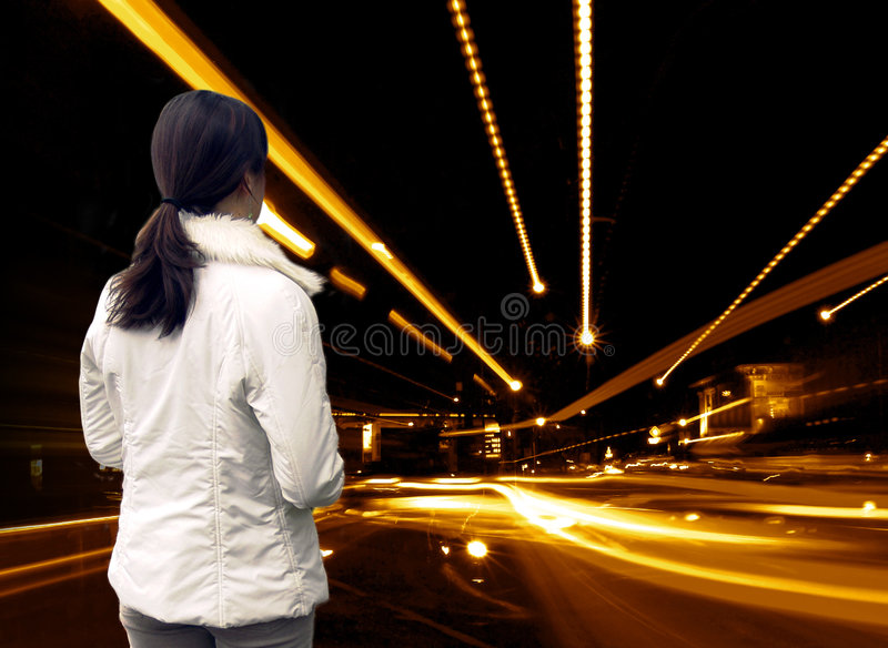 Abstract Street Girl royalty free stock photos