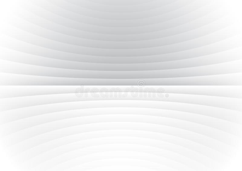 Abstract stripe pattern horizontal curve lines white and gray background vector illustration