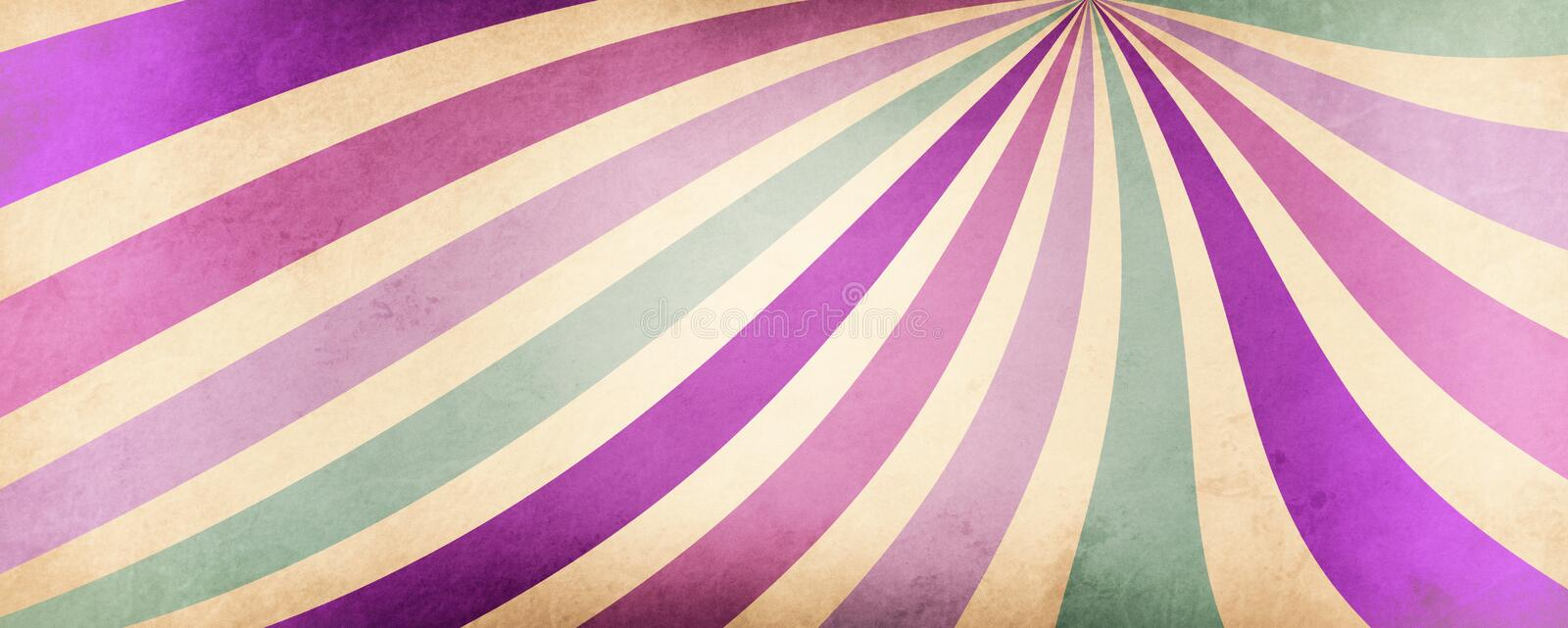 Abstract striped background with wavy lines of purple pink violet and blue green colors on an old white or beige background vector illustration