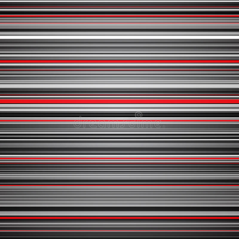 Abstract striped red and grey background stock illustration