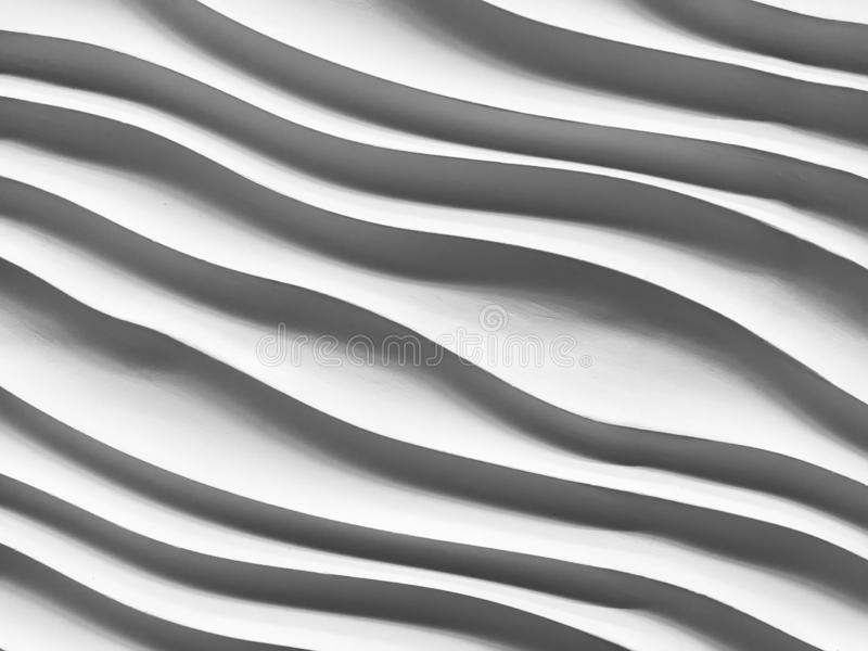 Abstract striped of stone texture, curve sculpture. Close-up of black geometric shapes line royalty free stock images