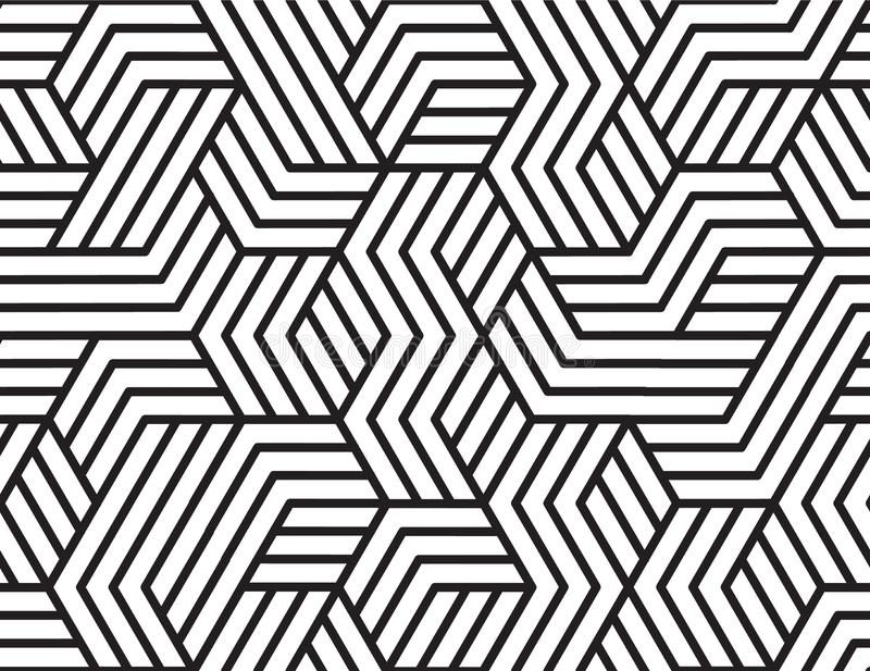 Abstract stripes, line vector seamless pattern. Neutral monochrome business background, black white color. Linear shapes royalty free stock images