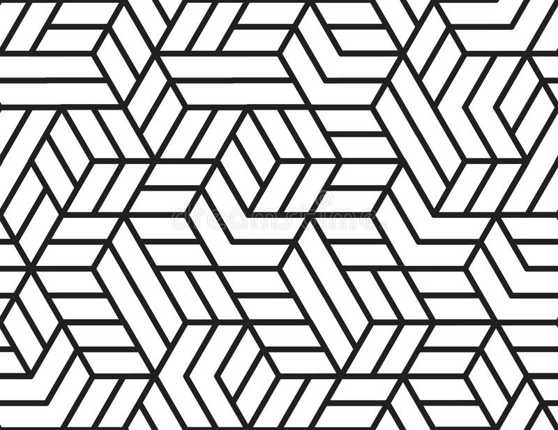 Abstract stripes, line vector seamless pattern. Neutral monochrome business background, black white color. Linear shapes stock photos