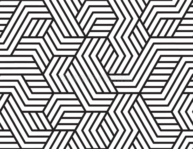 Abstract stripes, line vector seamless pattern. Neutral monochrome business background, black white color. Linear shapes royalty free stock image