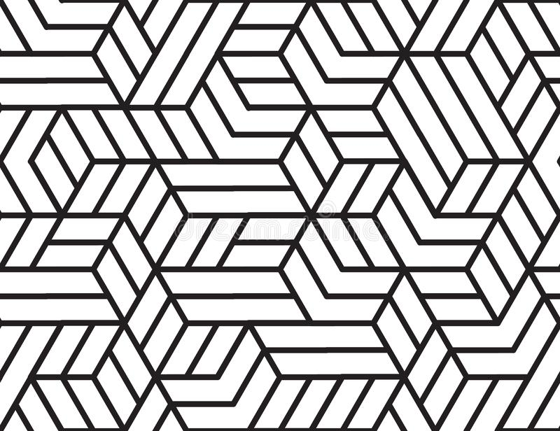 Abstract stripes, line vector seamless pattern. Neutral monochrome business background, black white color. Linear shapes stock photo