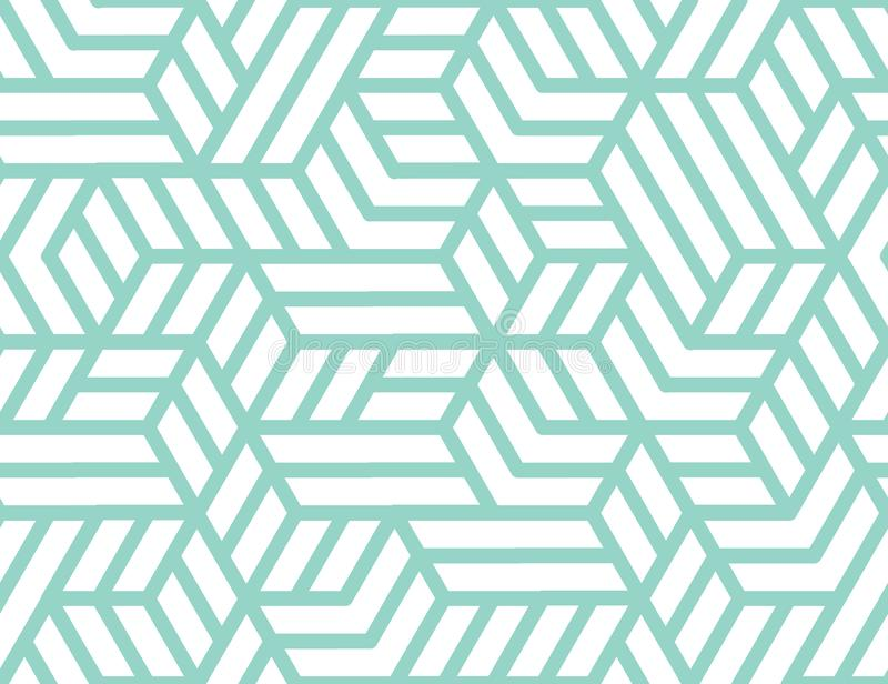 Abstract stripes, line vector seamless pattern. Neutral monochrome business background, turquoise white color. Linear royalty free stock photography