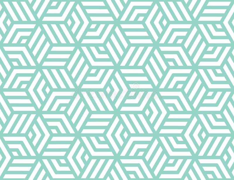 Abstract stripes, line vector seamless pattern. Neutral monochrome business background, turquoise white color. Linear royalty free stock photo