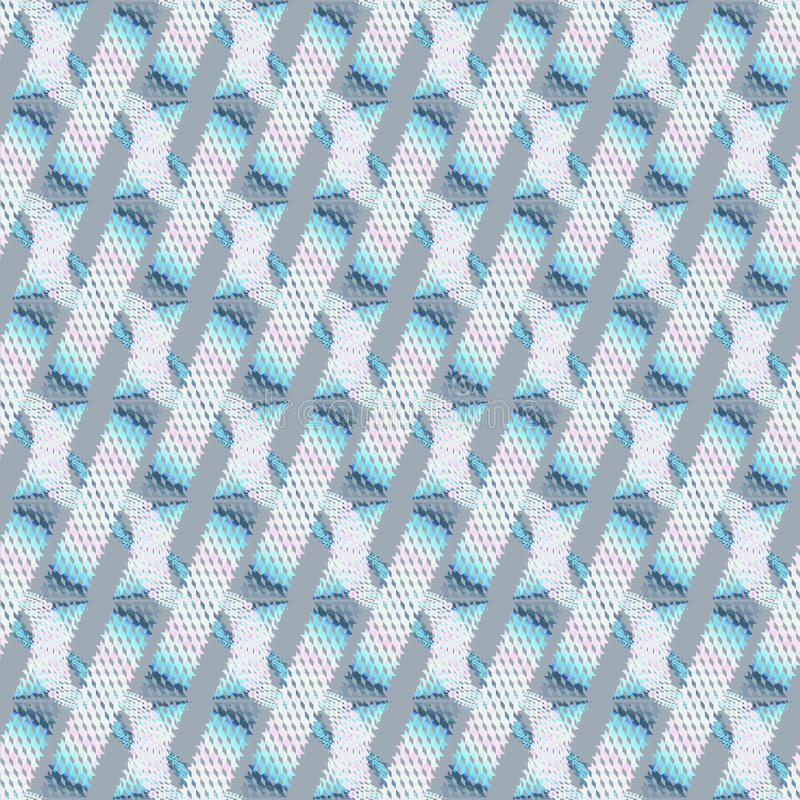 Abstract stripes pattern diagonally white pink blue gray. Abstract geometric seamless modern background, dimensional waffle-weave pattern. Regular stripes and vector illustration