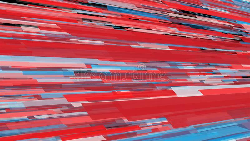 Abstract stripes in space - abstraction of data communication, computer generated background, 3D render royalty free stock image