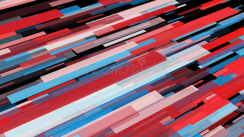 Abstract stripes in space - abstraction of data communication, computer generated background, 3D render stock illustration