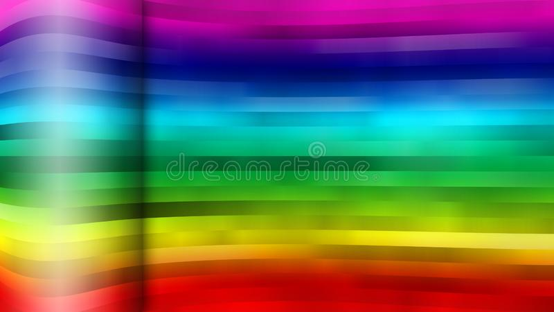 Abstract Stripes Texture with Rainbow Colors stock illustration