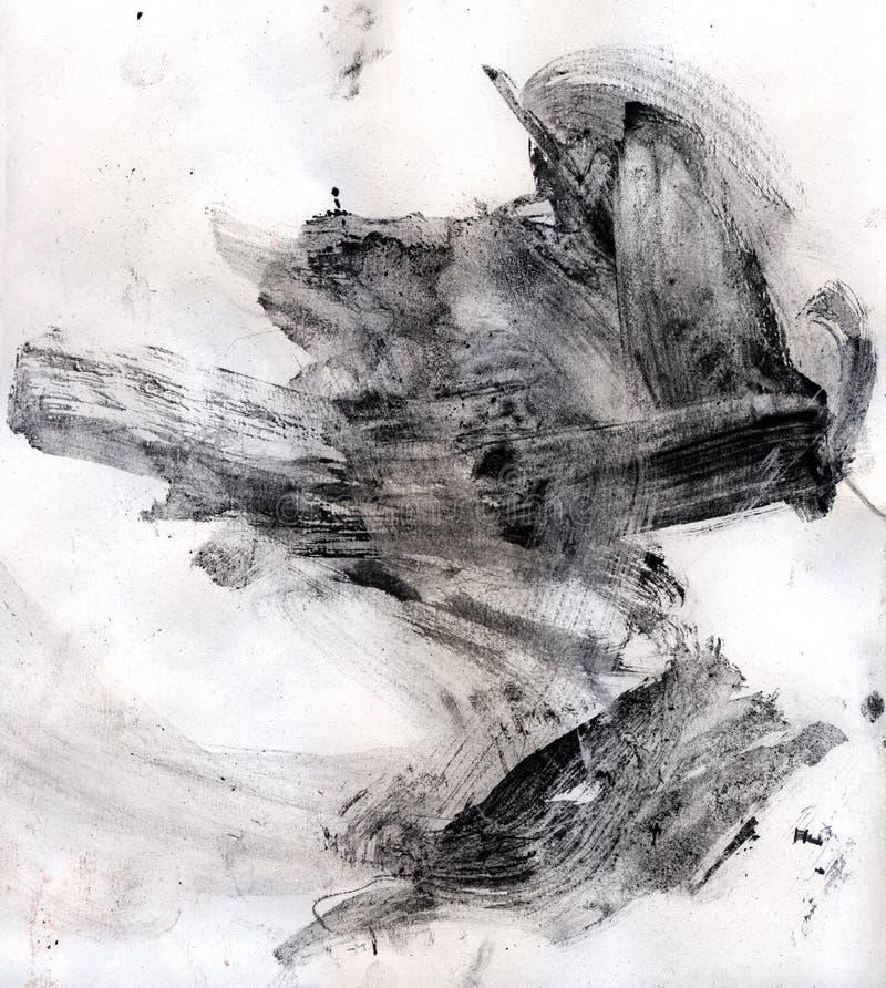 Abstract stroke of paint-brush vector illustration