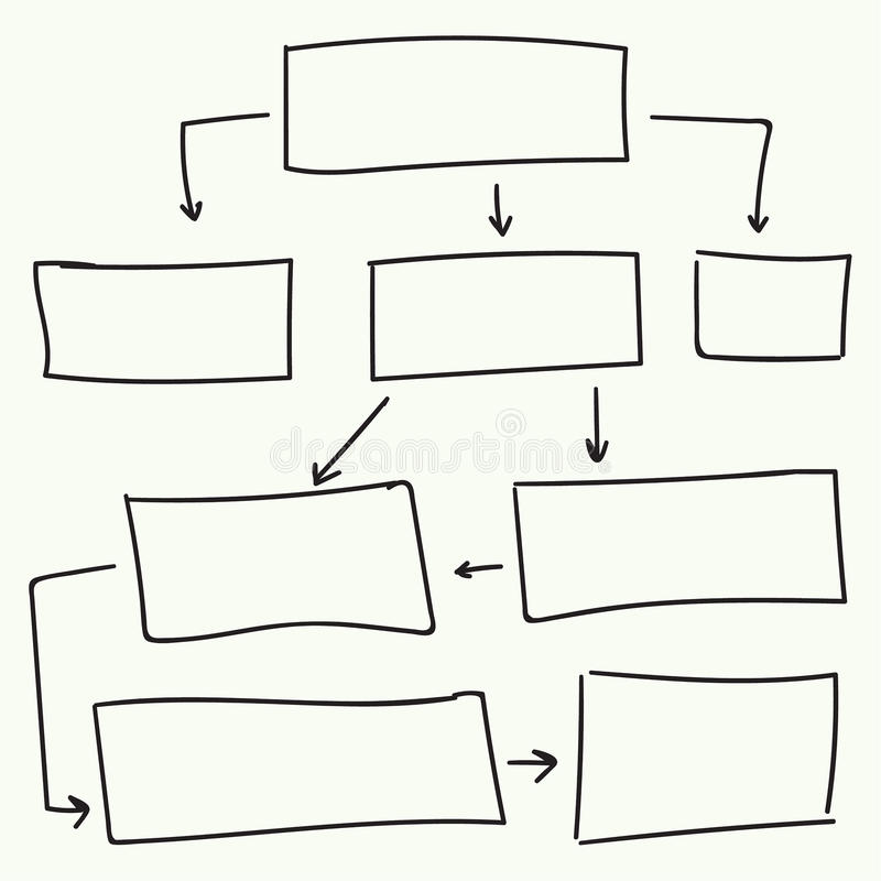Abstract stroomschema vectorontwerp royalty-vrije illustratie