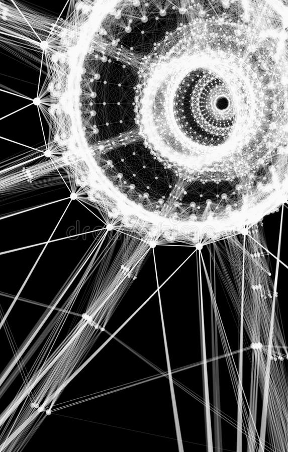 Abstract techno background stock photo