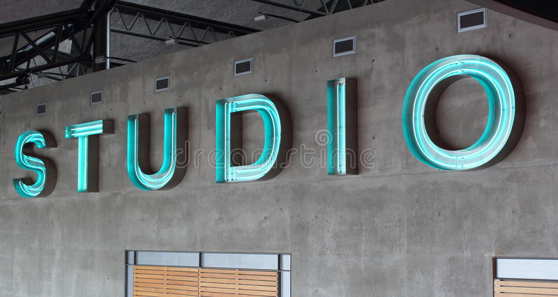 Abstract Studio Sign royalty free stock images