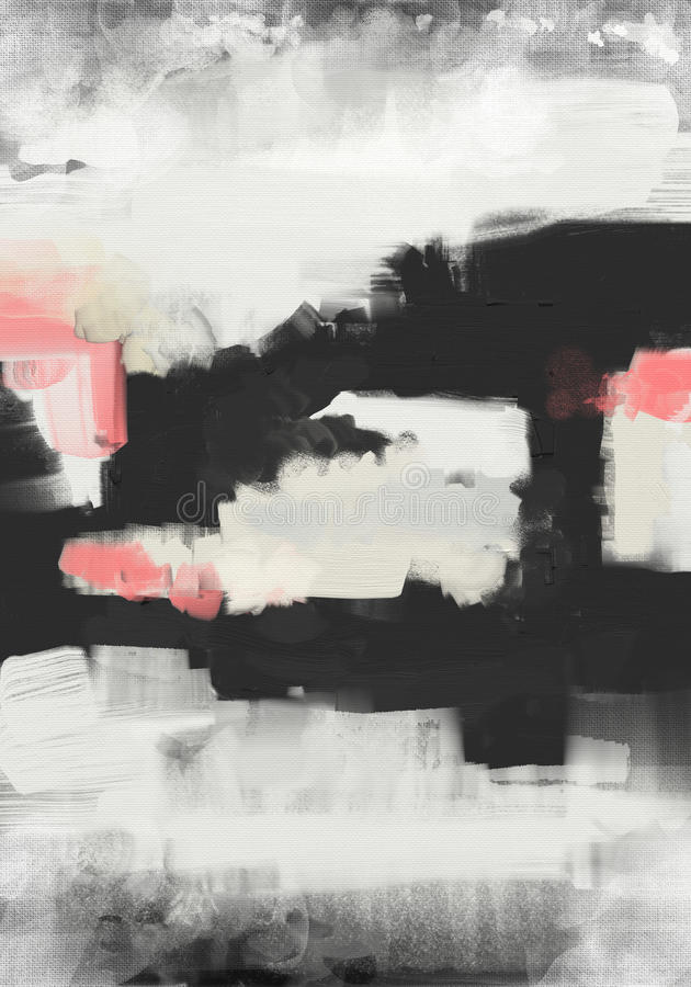 Abstract style oil painting artwork on canvas royalty free illustration