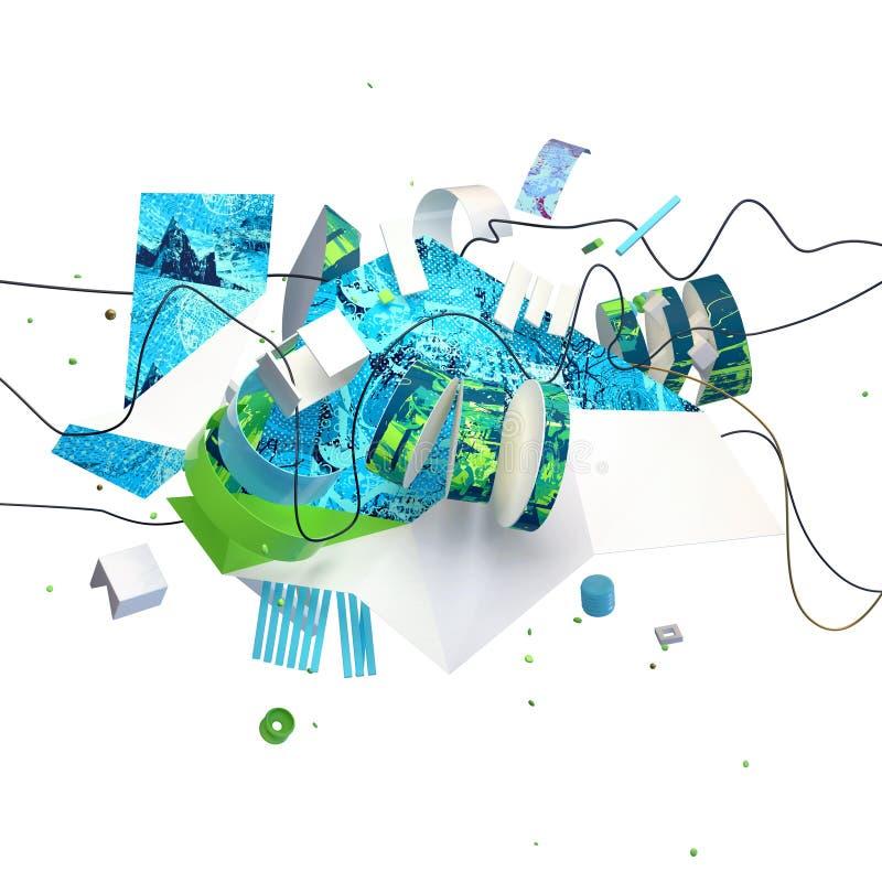 Abstract 3D composition stock photos