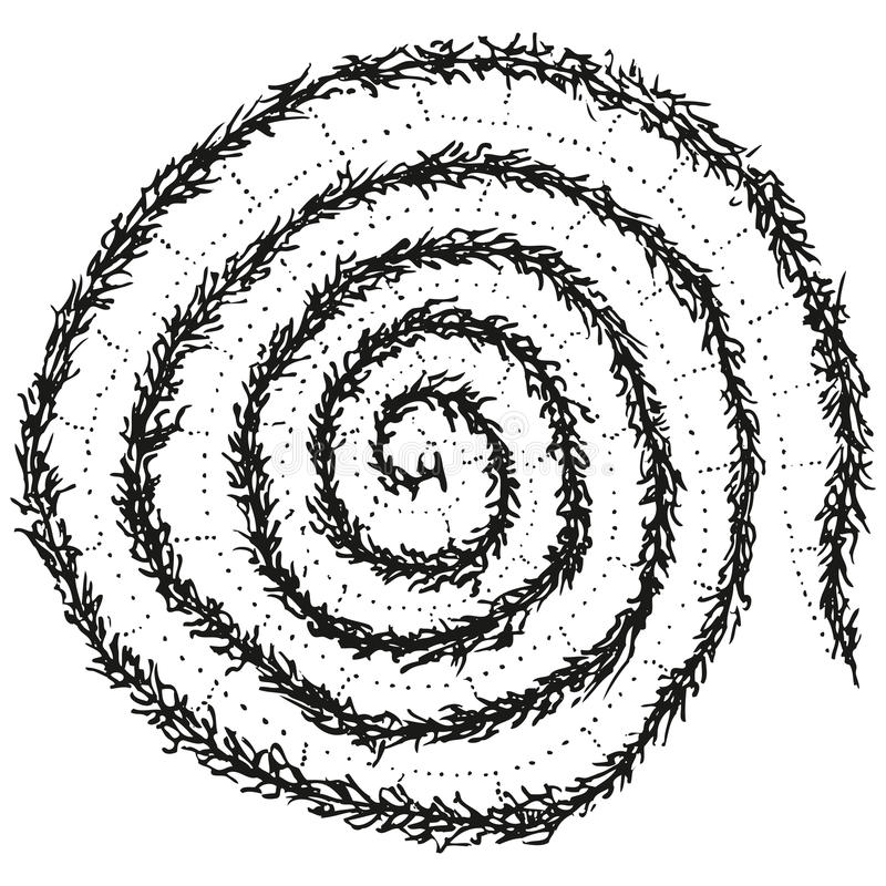 Download Abstract Stylized B&W Caterpillar Spiral Stock Vector - Image: 18841921