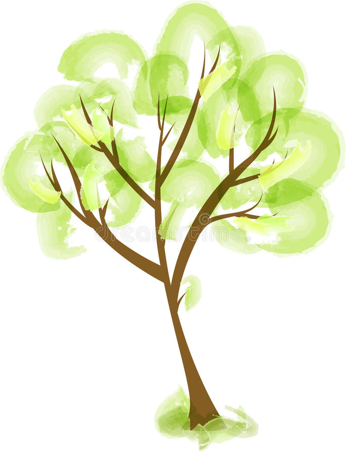 Abstract stylized tree stock illustration