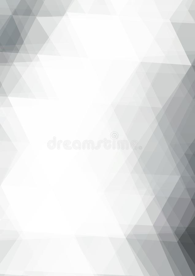 Abstract BW background textured by triangles. Vector pattern stock illustration